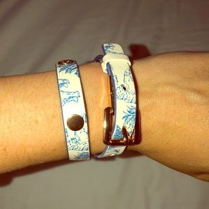 Reversible Tory Burch wrap bracelet